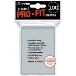 Прозрачные протекторы Ultra-Pro Pro-Fit для ККИ (100 штук) 64х89 мм