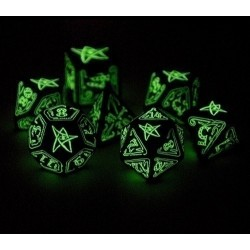 Набор кубиков «Black & Glow-in-the-Dark Call of Cthulhu» (d4, d6, d8, d10, d12, d20, d100)